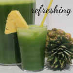 pineapple and spinach juice