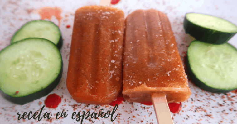 CUCUMBER POPSICLE'S WITH LIME & CHILI