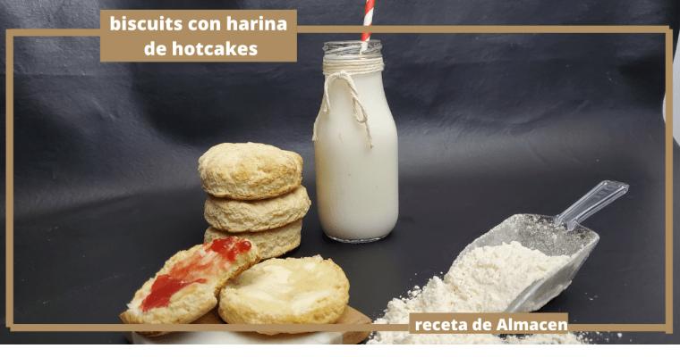 BISCUTIS CON HARINA DE HOTCAKES