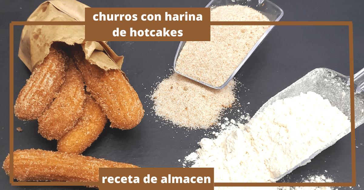 CHURROS CON HARINA DE HOTCAKES