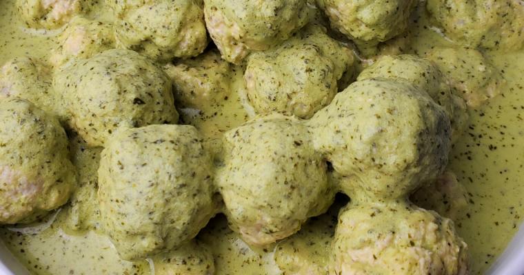 Chicken Meatballs in Cilantro Sauce Recipe