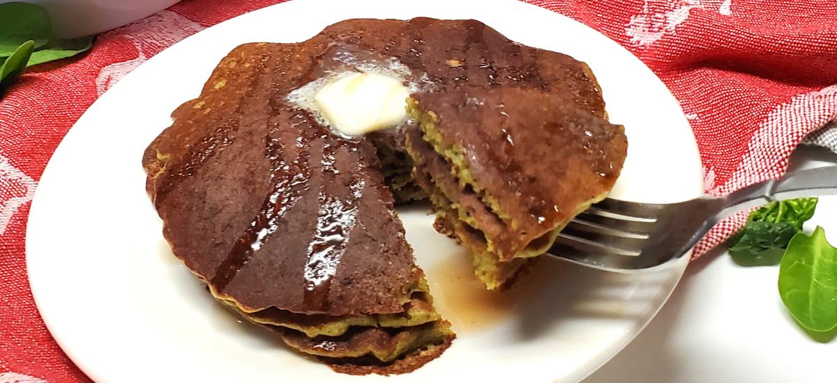 Hotcakes de avena,espinaca y nuez  receta
